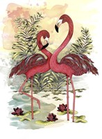 Flamingo Dance Fine Art Print