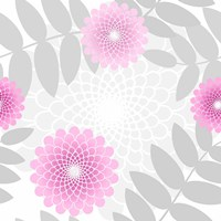 Flowers And Leaves Pattern Pink Fine Art Print