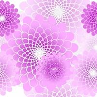 Spiral Flowers Pattern Pink Framed Print
