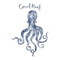 Octopus Coral Reef Fine Art Print