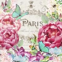 Paris Flower Market II Framed Print