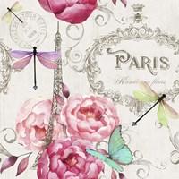 Paris Flower Market Pattern Fine Art Print
