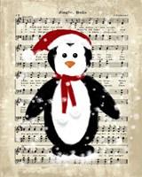 Christmas Penguin Framed Print