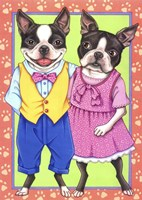 Boston Terrier Couple Fine Art Print