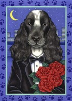 Cocker Spaniel Tuxedo Fine Art Print