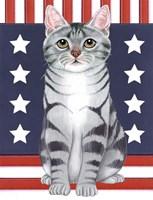 Patriot Cat Fine Art Print