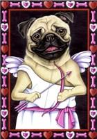 Pug Cupid Fine Art Print
