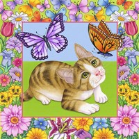 Butterfly Kitten Fine Art Print