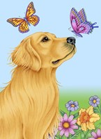Butterfly And Dog Fine Art Print