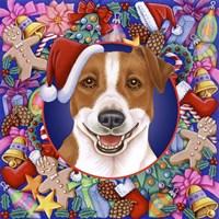 Christmas Jack Russel Fine Art Print