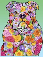 Flowers Bulldog Fine Art Print