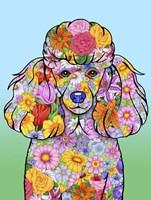 Flowers Poodle Fine Art Print
