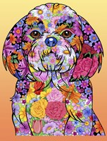 Flowers Shih Tzu Fine Art Print