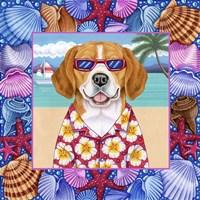 Seashells Beagle Fine Art Print