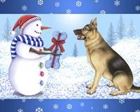 Snowman Dog Fine Art Print