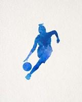 Basketball Girl Watercolor Silhouette Part II Framed Print