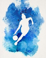 Basketball Girl Watercolor Silhouette Inverted Part II Fine Art Print