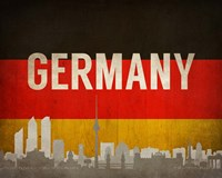 Berlin, Germany - Flags and Skyline Fine Art Print