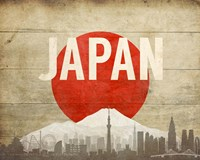 Tokyo, Japan - Flags and Skyline Fine Art Print