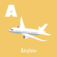 Transportation Alphabet - A is for Airplane Fine Art Print