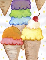 Floating Ice Cream Fine Art Print