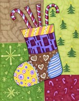Patchwork Stocking Fine Art Print