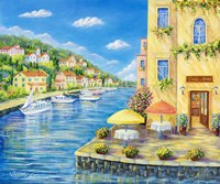 Cafe on the Water Fine Art Print