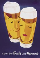 Female Male Beer Fine Art Print