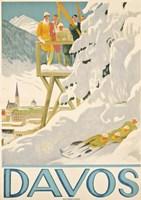 Davos Skiing Fine Art Print