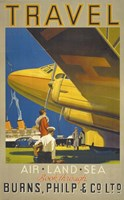 Art Deco Airplane Travel Fine Art Print