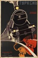 Art Deco Railroad Russia Fine Art Print