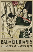 Bal Etudiants Fine Art Print