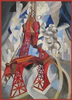 Red Eiffel Tower Delaunay 1911 Fine Art Print