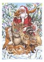 Santa Foxes Fine Art Print