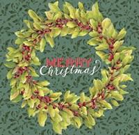 Holly Wreath Fine Art Print
