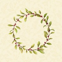 Holly Wreath Fine Art Print