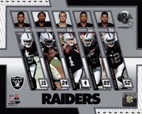 Oakland Raiders 2017 Team Composite Fine Art Print