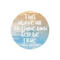 To Thine Own Self Be True Shakespeare Blue Fine Art Print