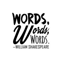 Words Words Words Shakespeare Black Fine Art Print