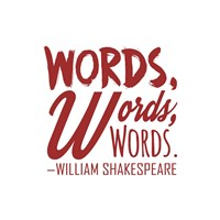 Words Words Words Shakespeare Red Fine Art Print