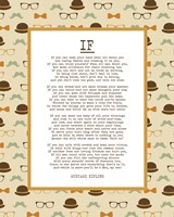 If by Rudyard Kipling - Retro Orange Fine Art Print