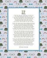 If by Rudyard Kipling - Retro Blue Fine Art Print