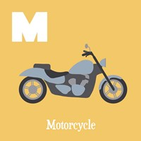 Transportation Alphabet - M is for Motorcycle Fine Art Print