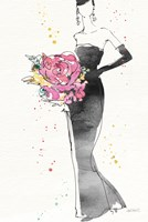 Floral Fashion III v2 Framed Print