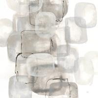 Neutral Stacking I White Fine Art Print