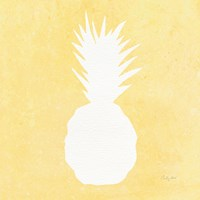 Tropical Fun Pineapple Silhouette II Fine Art Print