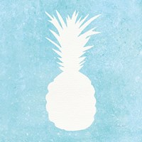 Tropical Fun Pineapple Silhouette I Fine Art Print