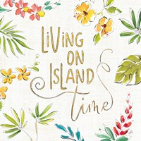 Tropical Oasis VI White Fine Art Print