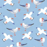 Coastal Birds Pattern II Fine Art Print