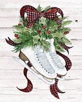Holiday Sports III on White Wood Fine Art Print